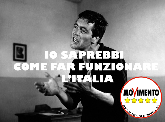 movimento 5 stelle: io saprebbi come far funzionare l'italia