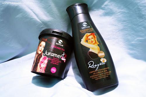 Shampoo Resgate e Máscara Juramento - Soft Hair - Redução de volume e Brilho!