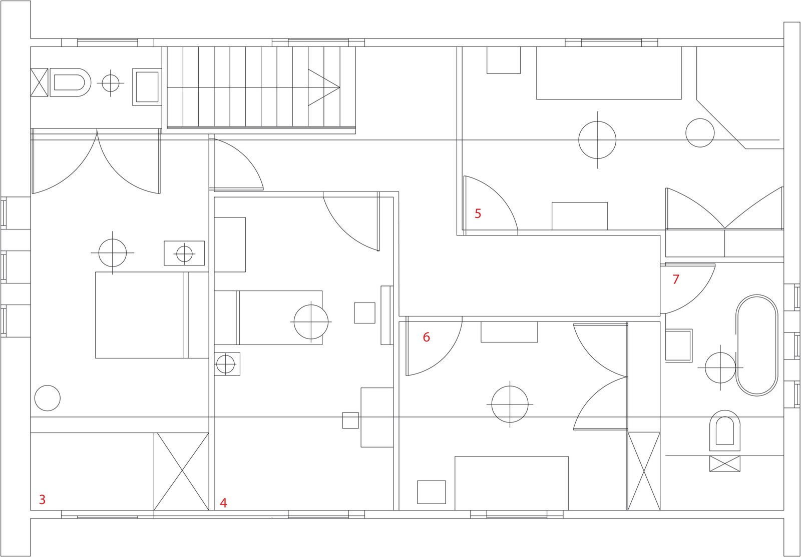 Apartment Plan Cad File