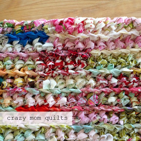 Crazy Mom Quilts How To Crochet A Rag Rug With Fabric Yarn Best Crochet Rag Rug Patterns