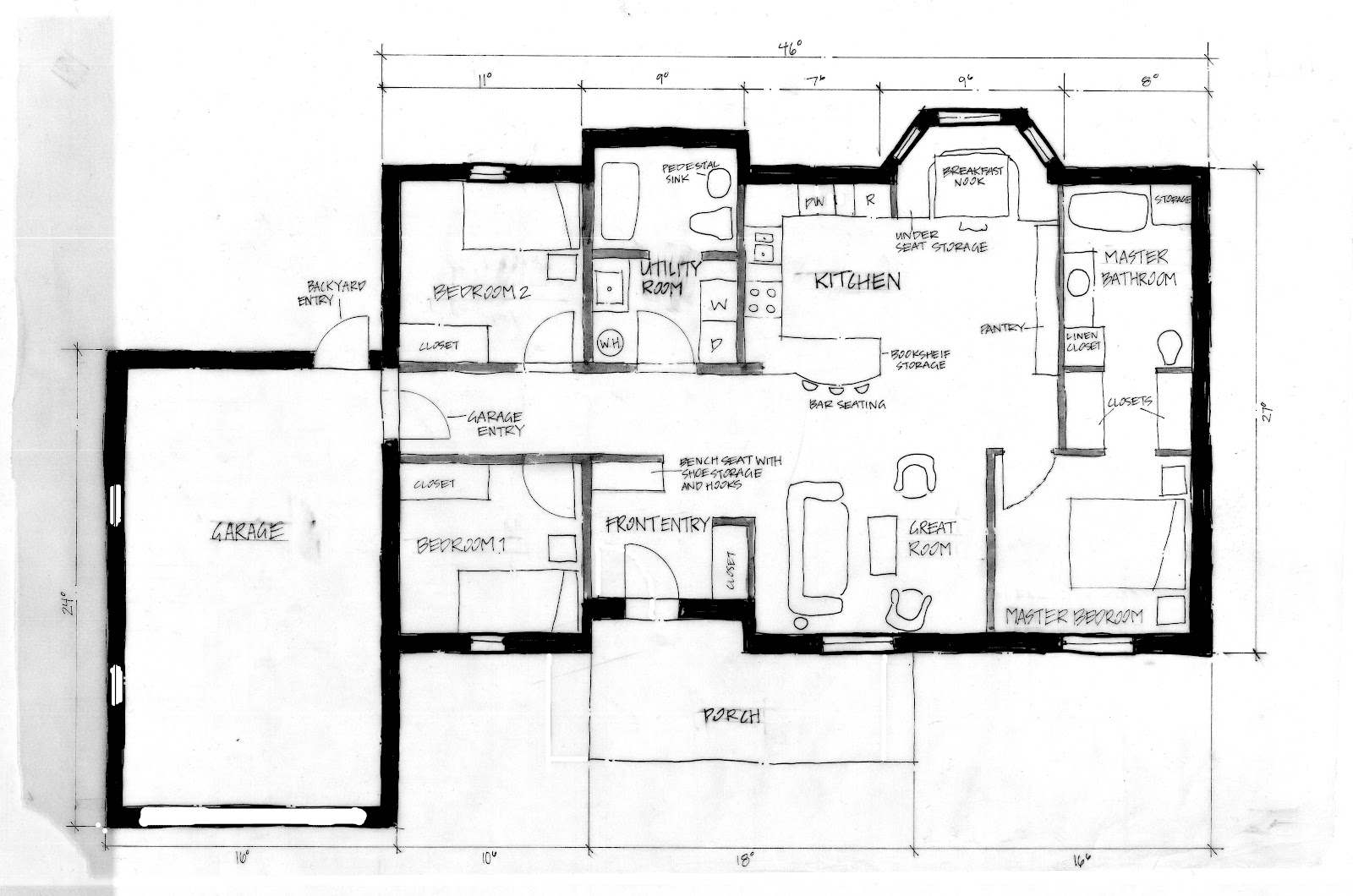 Taylor brock design portfolio habitat for humanity for Aging in place home plans