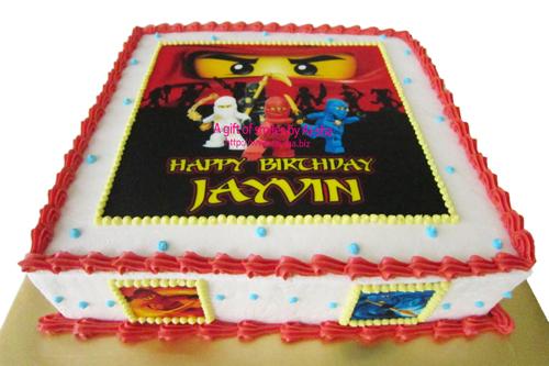 Birthday Cake Edible Image Ninjago Ai-sha Puchong Jaya