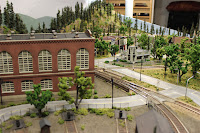 Center section of layout looking towards the town center