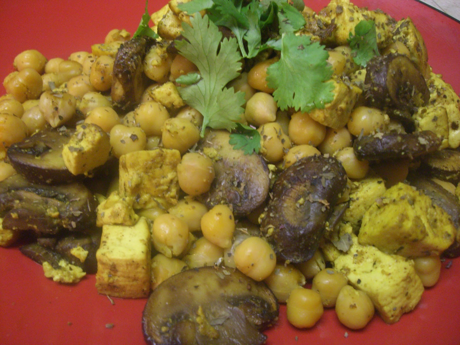... : Curried Tofu, Portobello Mushroom, & Garbanzo Bean Stir Fry