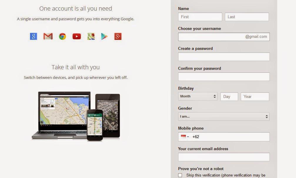 Cara Membuat Email Gmail Tanpa Verifikasi HP