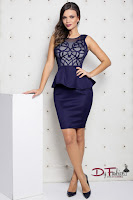 rochie-office-carving-dark-blue