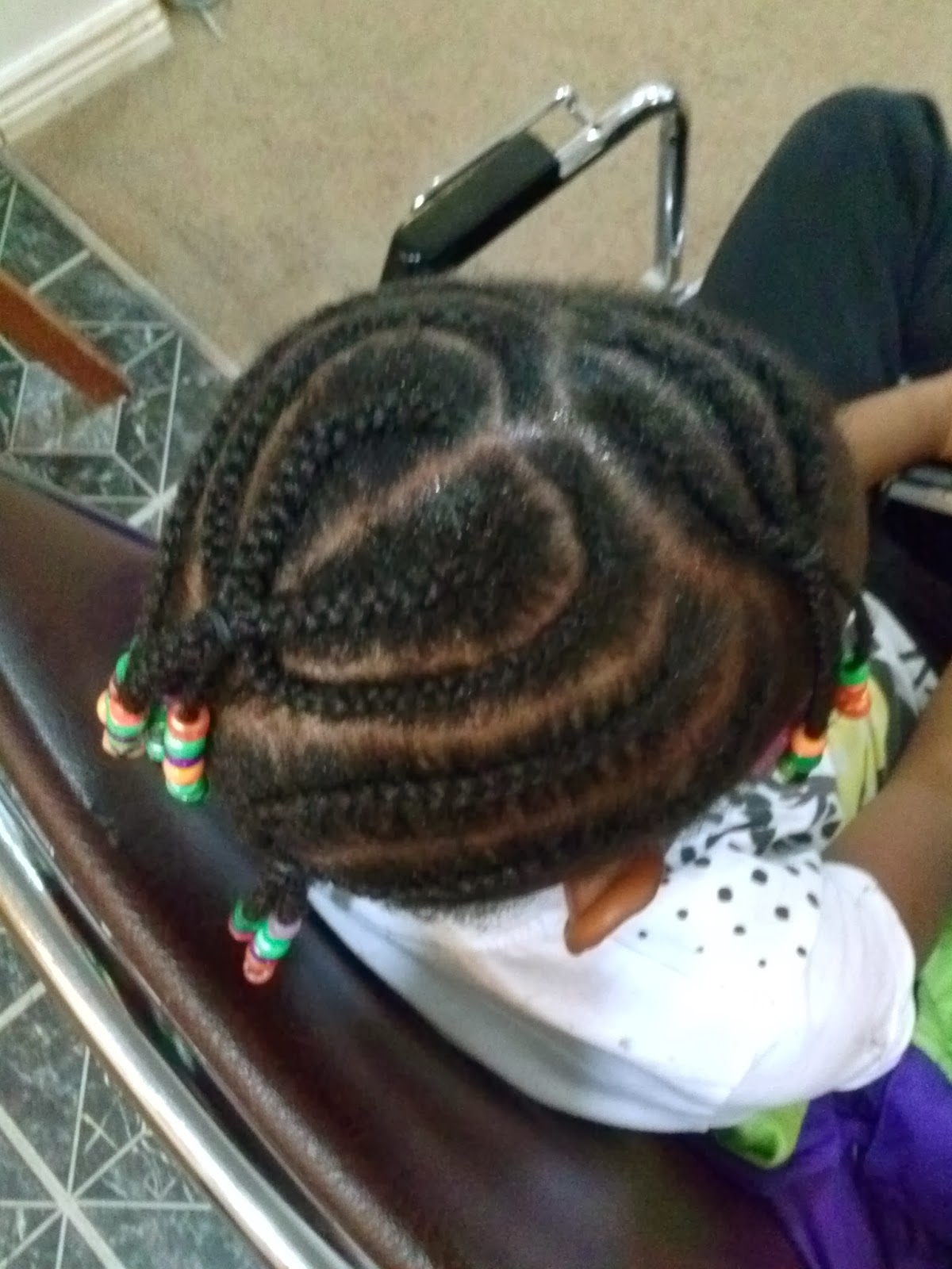 heart braid cornrows design