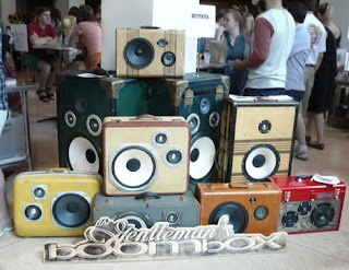 Interesting Items. The Gentleman's Boombox made from luggage.