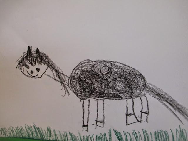Pippi Langstrumpf hat auch ein Pferd zeichnen und basteln