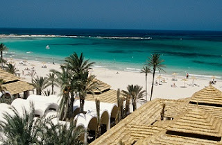 Vistas de la playa de Djerba en Túnez