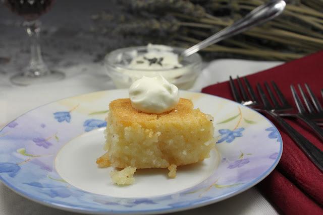 Basbousa with yoghurt, بسبوسة بالزبادى ,  Basbousa bil Laban Zabadi, Semolina cake