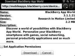 AppWorld Updates to v3.1.1.21 for Blackberry