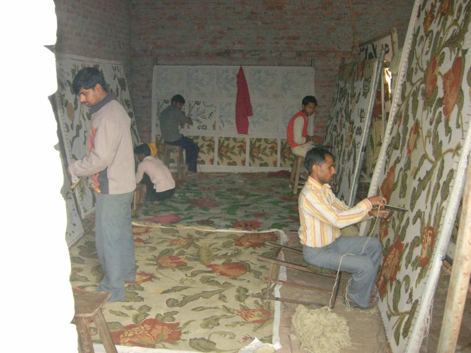 Indian Carpets Rugs Manufacturers Hand Knotted Tufted