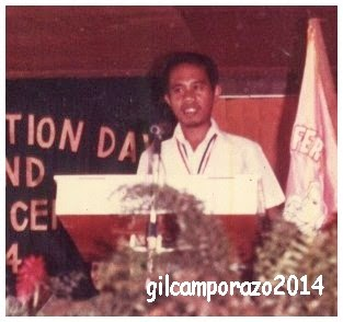 Gil giving his words of gratefulness during their recognition rites