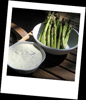 Recipe: Grilled asparagus served with Rémoulade