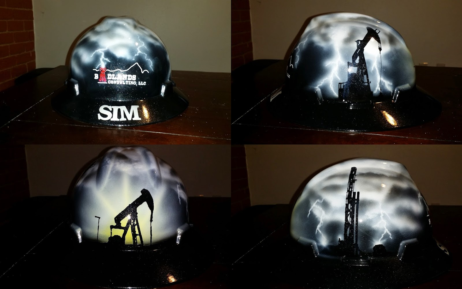 Oilfield storm hard hat