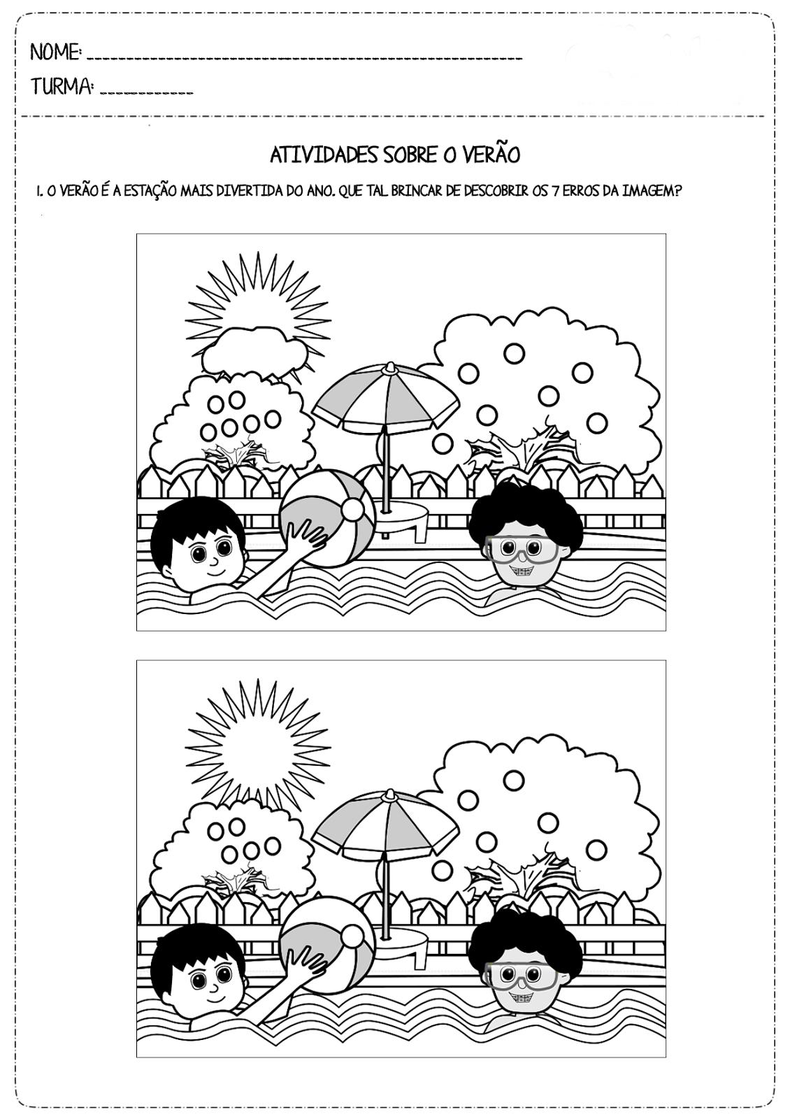 Desenhos Preto e Branco Jogos dos 7 erros Colorir