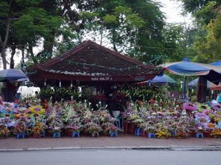Fleuriste à Haiphong au Vietnam -