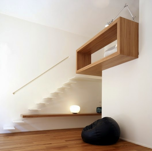 modern stairs design with lighting
