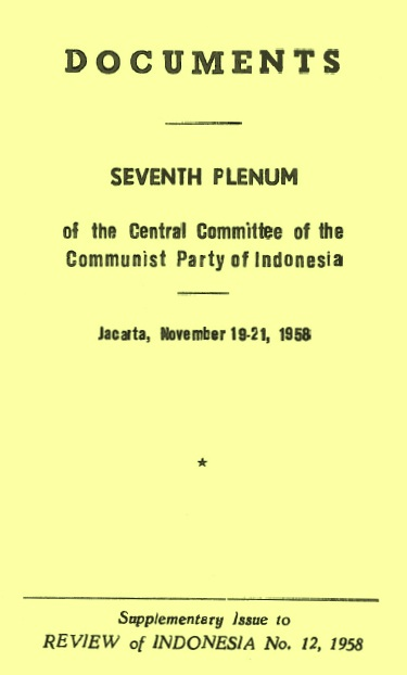 CC PKI (1958) - Documents of 7th Plenum CC PKI