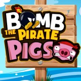 Bomb The Pirate Pigs | Juegos15.com