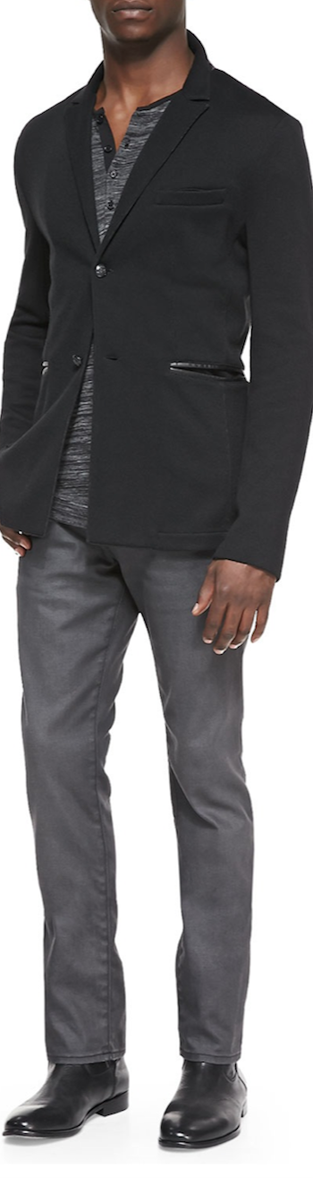 John Varvatos  Knit Jacket