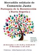 Mercadillo Solidario de Comercio Justo. 16 y 17 dic. Nueva Segovia