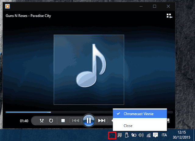 Audio Cast connettere PC a TV con Chromecast