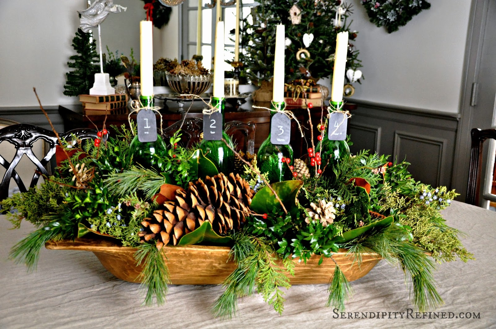 Serendipity refined blog simple rustic advent wreath - Ideen adventskranz ...
