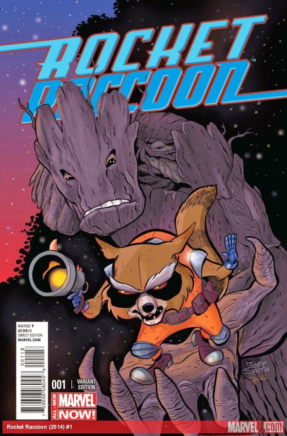 San Diego Comic-Con 2014 Exclusive Rocket Raccoon #1 Variant Cover by Jeff Smith