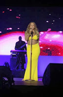 English: Mariah Carey Yellow Bikini Nigeria