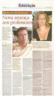 BURNOUT: Nova Ameaça aos Professores