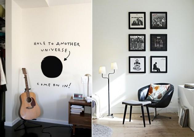 decoracao alternativa e barata para quarto:We Love Arq: Instrumentos musicais na decoração