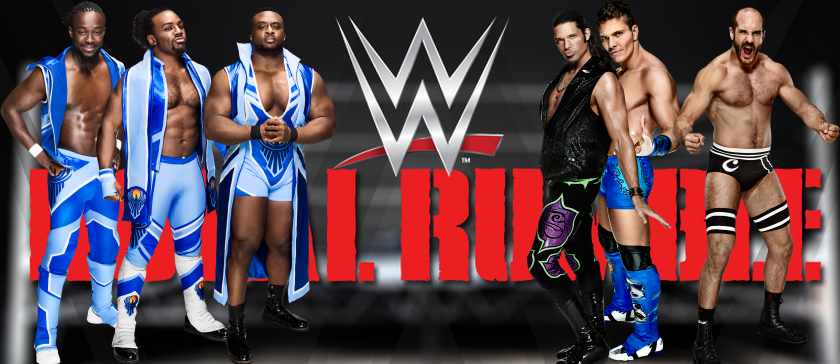 The New Day lucha contra Cesaro Tison Kidd y Adam Rose en Royal Rumble