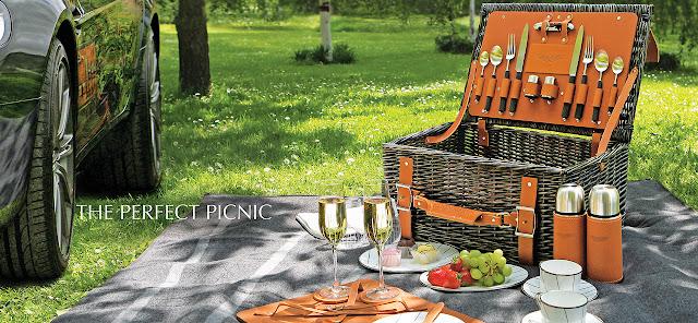 Der Picknick Korb von Aston Martin - Luxus auf der Wiese - Lifestyle Luxus Gadget