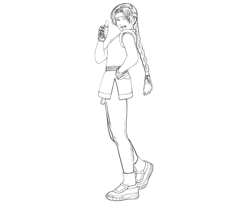 printable-art-of-fighting-yuri-sakazaki-character-coloring-pages