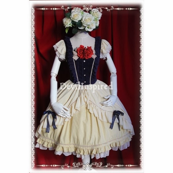 http://www.devilinspired.co.uk/lolita-clothing/2145-beige-and-navy-blue-short-sleeves-bow-sweet-lolita-dress.html