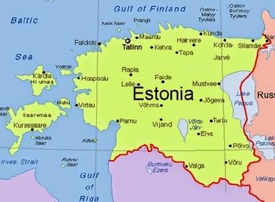 Estonya'nın Şehirleri Haritası