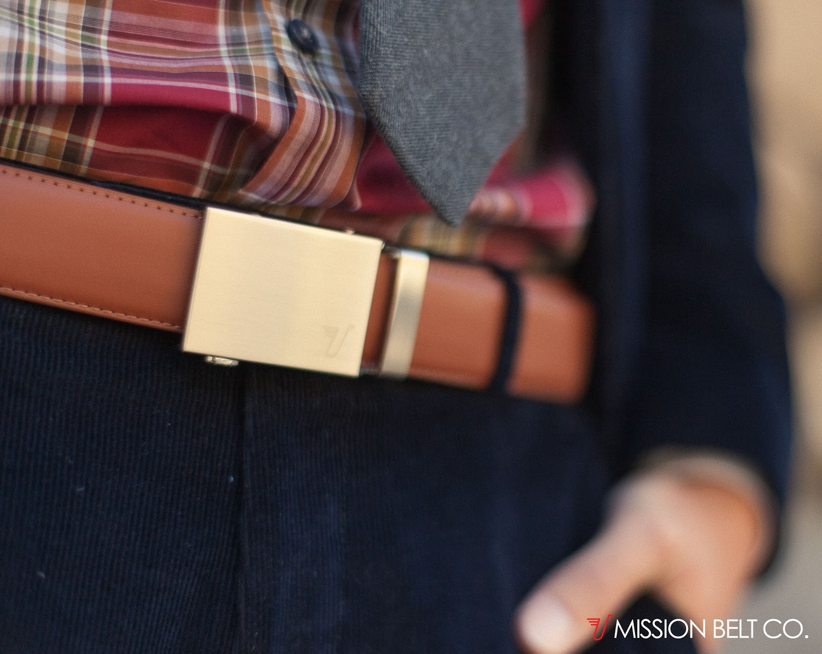 #MissionBelt in brown leather w/gold buckle