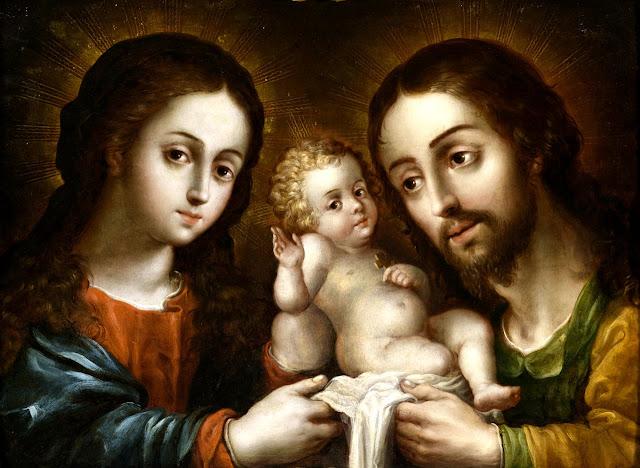 A Sagrada Família: modelo arquetípico e perfeito da família hoje atacada. Nicolás Rodríguez Juárez (Mexico, 1667-1734). Los Angeles County Museum of Art