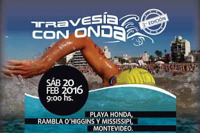 Natación - Travesía con onda (playa Honda, Montevideo, 20/feb/2016)