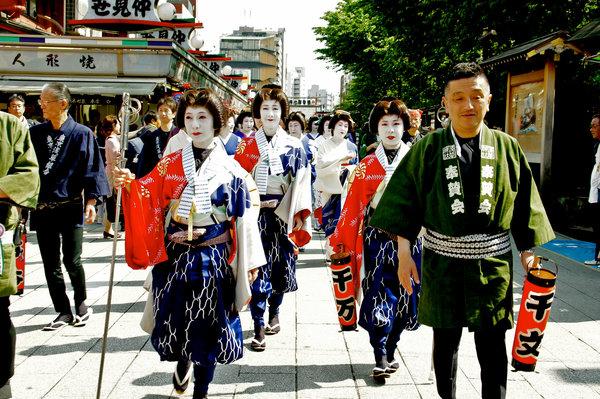 Asakusa Sanja Matsuri, geisha