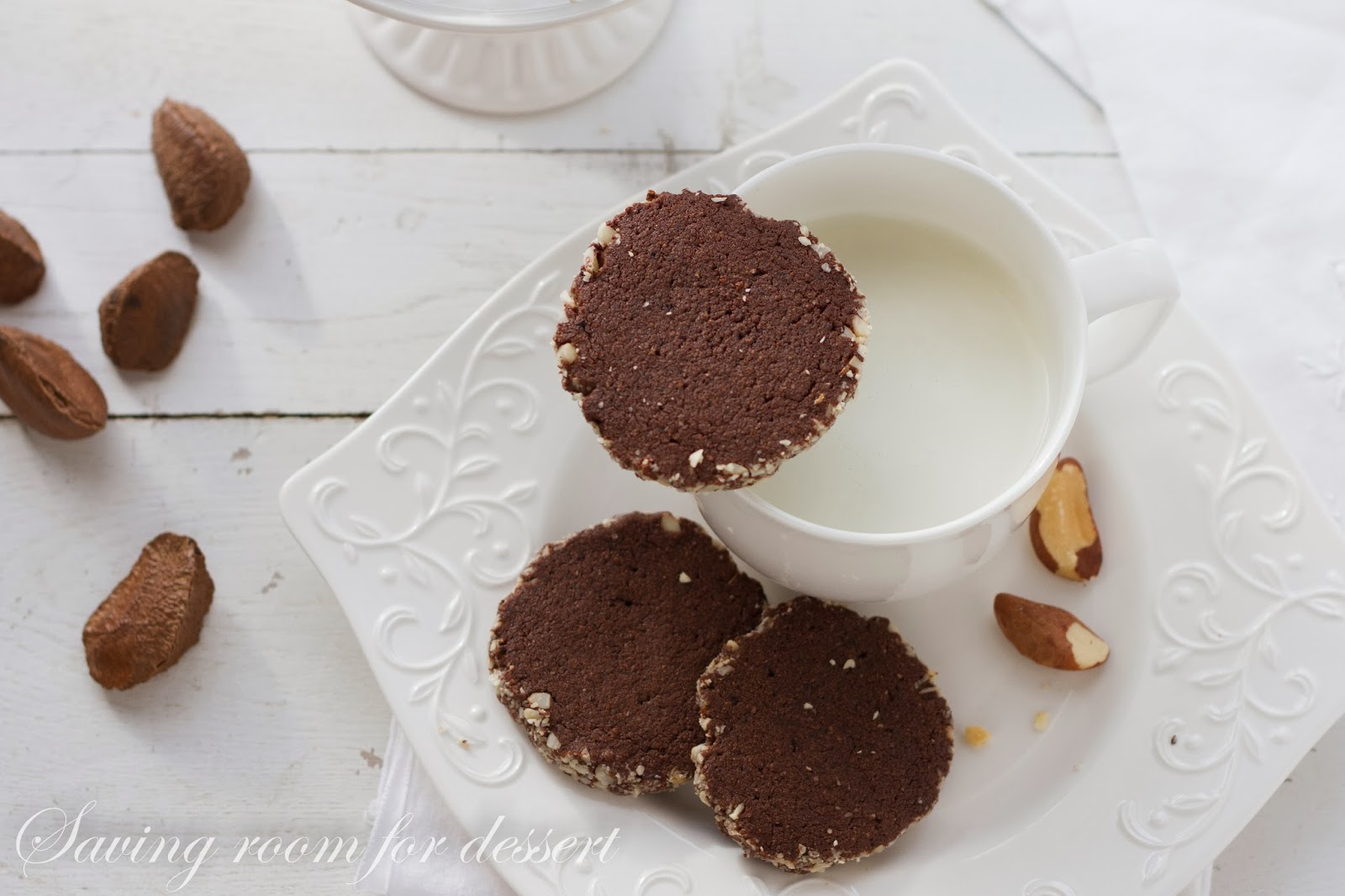 Cocoa-Espresso-Brazil Nut Cookies - Saving Room for Dessert