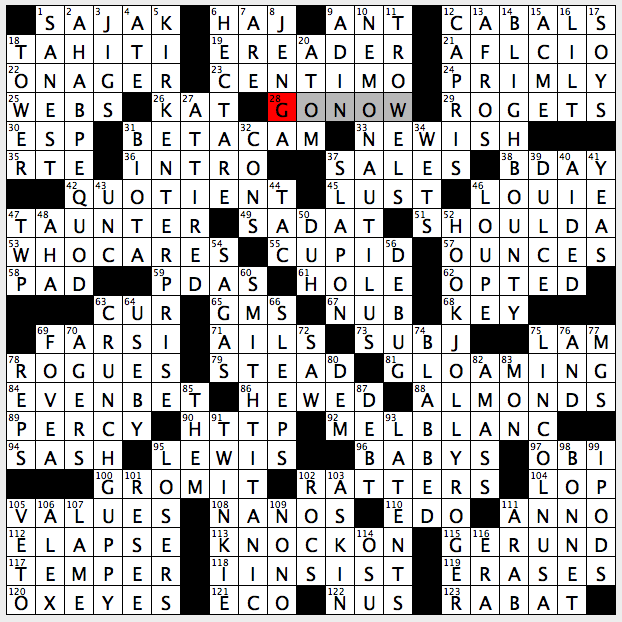 Rex Parker Does The Nyt Crossword Puzzle Regni Sun 4 5 15 Home Of Faa A International Airport Ayatollah S Speech Point Of Sharpest Vision Schlemiels Burns S To A Louse Sony Video Recorder