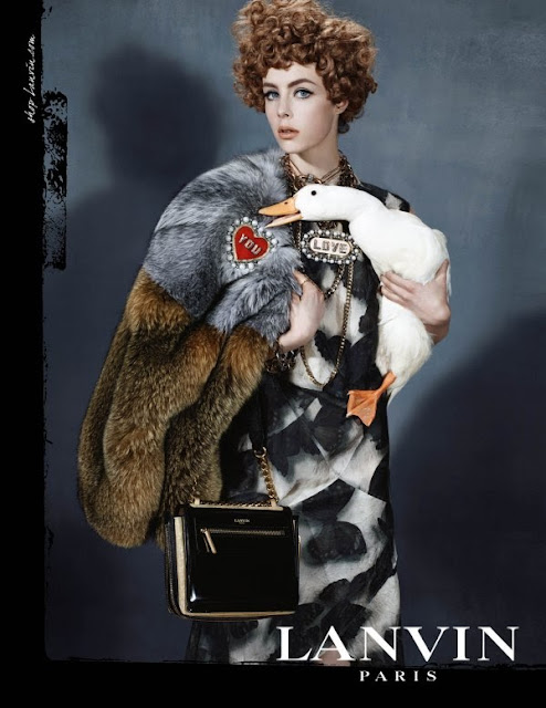 fashion, style, illustration, caroline jeffery, LANVIN, FW13, Paris, art, drawing, campaign, Edie Campbell, Steven Meisel