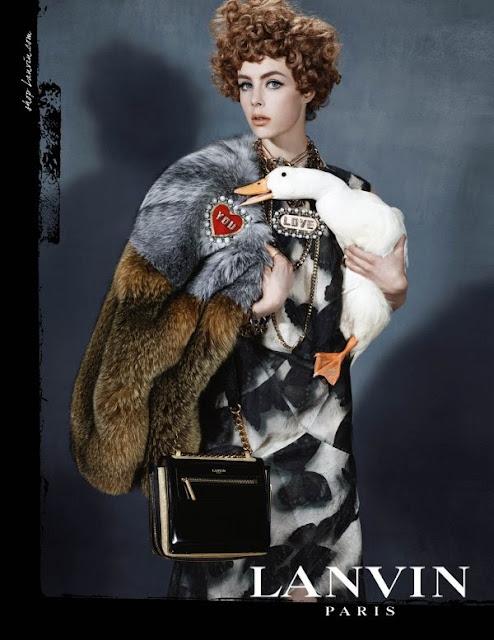 fashion, style, illustration, caroline jeffery, LANVIN, FW13, Paris, art, drawing, campaign, Edie Campbell, Steven Meisel