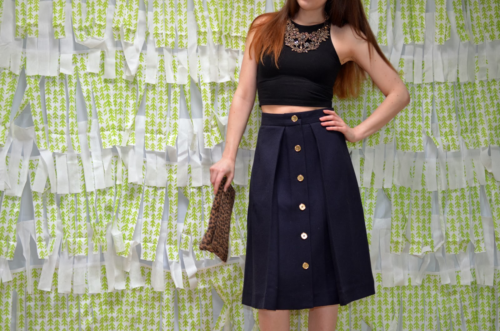 crop top midi skirt OOTD outfit of the day