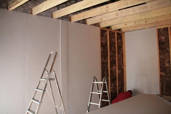 Construction salle de r p tition rock isolant et placo c 39 est parti - Hauteur sous plafond 3m ...