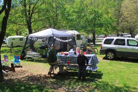Uhaul camper at 2013 Fiberglass Egg Rally in Townsend Tn