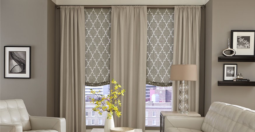 Fiorito interior design shutters blinds shades what 39 s for Curtains and blinds together